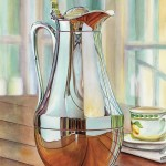 Room through the water-pitcher. Watercolor on Paper   SOLD