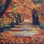Golden Road, oil on canvas