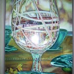 Fall in a glass, watercolor  SOLD